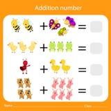 Illustrator of Addition number Stock Photo
