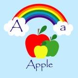 Illustrator of A alphabet. Font Royalty Free Stock Image