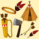 Illustrator of American Indian Royalty Free Stock Images