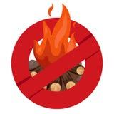 Illustrator of anti bonfire safety Royalty Free Stock Image