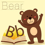 Illustrator of B for Bear vocabulary Royalty Free Stock Images