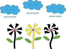 Illustrator Background flower Shape and cloud Royalty Free Stock Photo