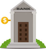Illustrator of bank buildings Stock Photos