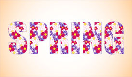 Illustrator brushes flowers text Stock Photography