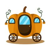 Illustrator of carriage pumpkin fantasy background. Isolated stock illustration