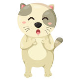Illustrator of cat cute vector Stock Photography