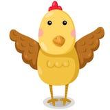Illustrator of chicken cute vector Royalty Free Stock Photo