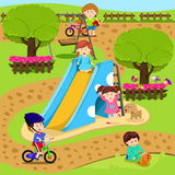 Illustrator of child in playground Stock Image