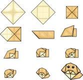 Illustrator of dog origami Royalty Free Stock Photography