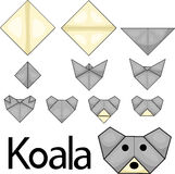 Illustrator of koala origami Stock Image