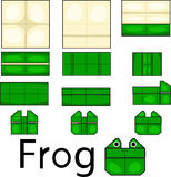 Illustrator of frog origami Royalty Free Stock Images