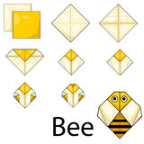 Illustrator of bee origami Royalty Free Stock Photo