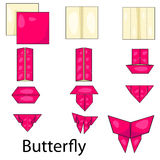 Illustrator of butterfly origami Royalty Free Stock Photo