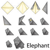 Illustrator of elephent origami Royalty Free Stock Photo