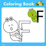 Illustrator of color book with frog animal Royalty Free Stock Images