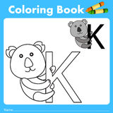 Illustrator of color book with koala animal Royalty Free Stock Photo