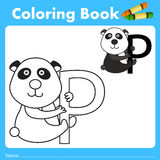 Illustrator of color book with panda animal Stock Photography