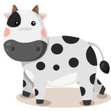 Illustrator of cow cute vector Stock Photo