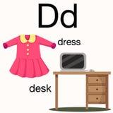Illustrator of d vocabulary Stock Image