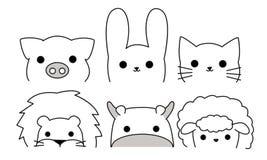 Illustrator de los animales del esquema Fotos de archivo