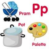 Illustrator del alfabeto de P Imagen de archivo libre de regalías