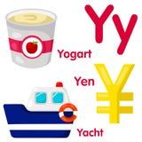 Illustrator del alfabeto de Y Imagen de archivo libre de regalías