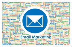 Illustrator del márketing del correo electrónico para el concepto del negocio Foto de archivo