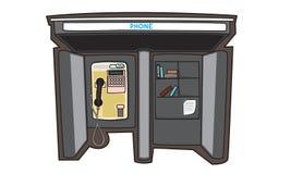 Illustrator del teléfono público en una ciudad Imagen de archivo