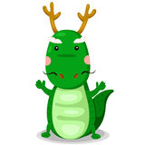 Illustrator of dragon cute vector Royalty Free Stock Photo