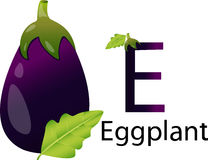 Illustrator e font with eggplant Stock Images