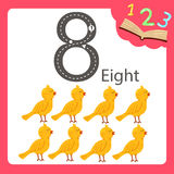Illustrator of eight number animal. For education royalty free illustration