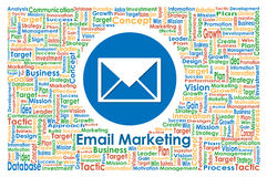 Illustrator of Email Marketing for Business Concept Stock Photo