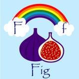 Illustrator of F alphabet. Font Stock Photos