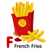 Illustrator of F font with french fries Royalty Free Stock Photo