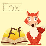 Illustrator of F for Fox vocabulary Royalty Free Illustration