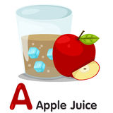 Illustrator of A font Apple juice Stock Photography