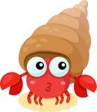 Illustrator of hermit crab Stock Photo