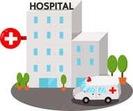 Illustrator of hospital buildings Stock Photo