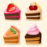Illustrator of isolated cake set Stock Images