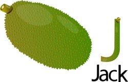 Illustrator J font with jack Royalty Free Stock Image