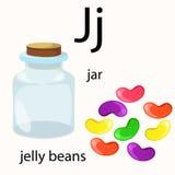Illustrator of j vocabulary Stock Photography