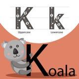 Illustrator of koala with k font Royalty Free Stock Image