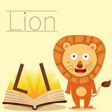 Illustrator of L for Lion bee vocabulary Royalty Free Stock Images