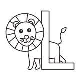 Illustrator of L Lion Royalty Free Stock Photos