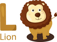 Illustrator of L with lion Stock Image