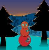 Landscape robo snow man mountain Royalty Free Stock Photography