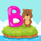 Illustrator of Letter 'B is for Bear' Stock Photos