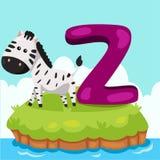 Illustrator of Letter 'Z is for Zebra' Royalty Free Stock Photos
