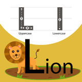 Illustrator of lion with l font Royalty Free Stock Photos