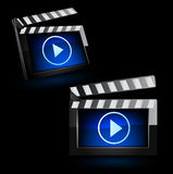 Illustrator of media player icon. Royalty Free Stock Photography